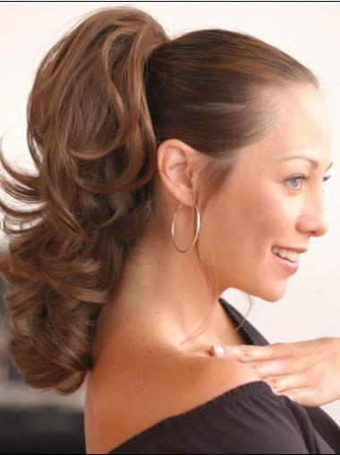 Synthetic Brown Glamorous Ponytails
