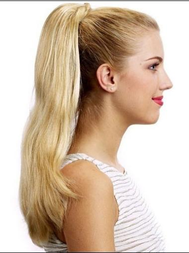 Traditiona Blonde Straight Long Ponytails Hairpieces