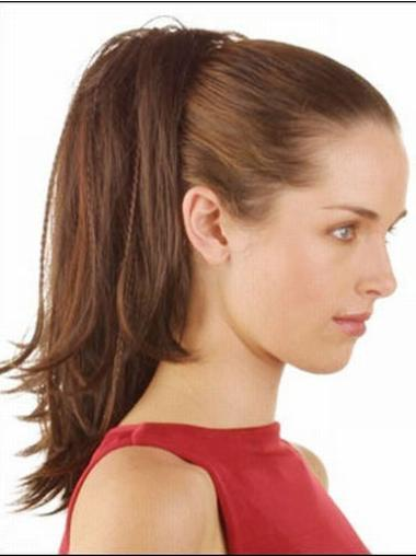 Synthetic Brown Comfortable Ponytails