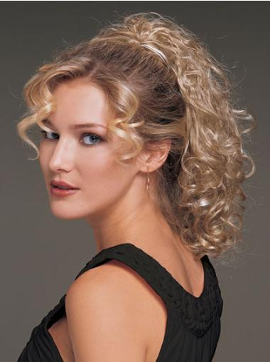 Beautiful Blonde Curly Ponytails Hairpieces