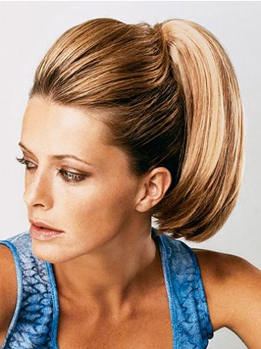 Synthetic Brown Cosy Ponytails