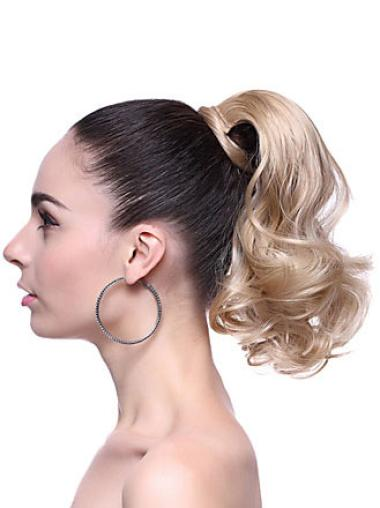 Designed Blonde Wavy Ponytails Hairpieces