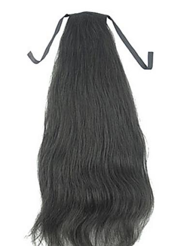 Amazing Black Straight Long Ponytails Hairpieces