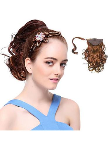 Affordable Auburn Wavy Ponytails Hairpieces