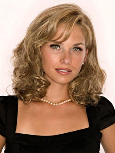 Modern Blonde Wavy Shoulder Length Hair Falls & Half Hairpieces
