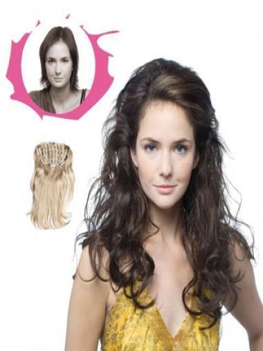 Fashionable Brown Curly Long Hair Falls & Half