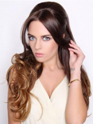 Discount Black Wavy Long Hair Falls & Half