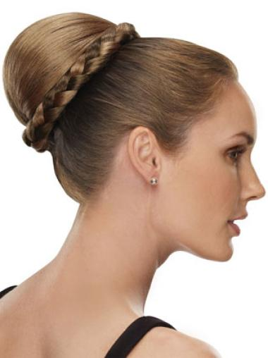 Synthetic Blonde Exquisite Wraps / Buns Hairpieces