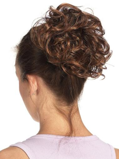 Synthetic Brown Comfortable Wraps / Buns Hairpieces