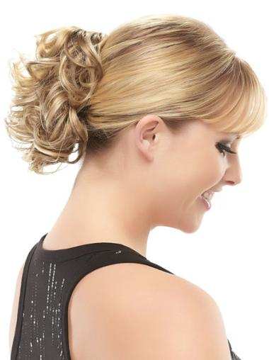 Synthetic Blonde Shining Wraps / Buns
