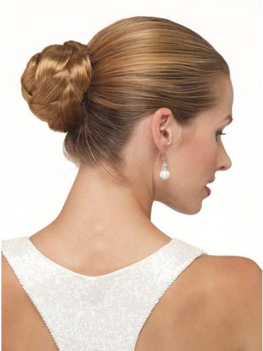Synthetic Brown Durable Wraps / Buns Hairpieces