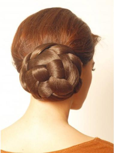 Synthetic Brown Convenient Wraps / Buns Hairpieces