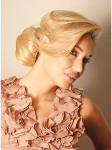 Synthetic Blonde Beautiful Wraps / Buns Hairpieces