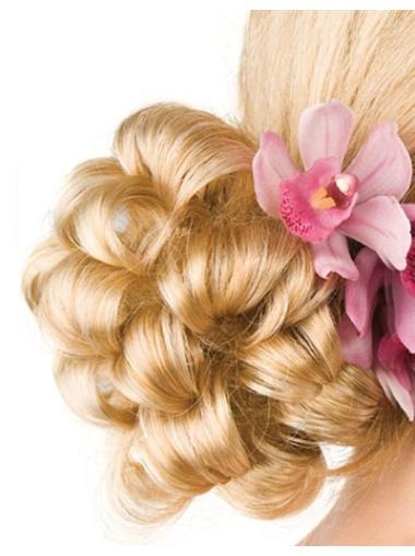 Synthetic Blonde Stylish Wraps / Buns