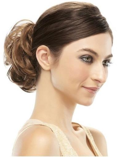 Remy Human Hair Brown Mature Wraps / Buns