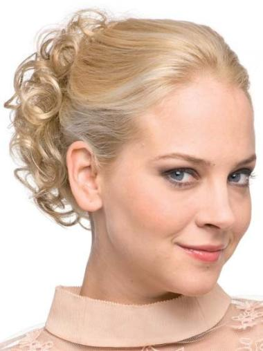 Synthetic Blonde Cheapest Wraps / Buns Hairpieces