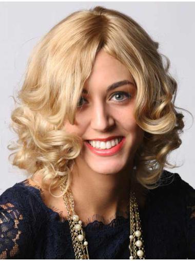 "14"" Blonde Capless Human Hair Wigs"