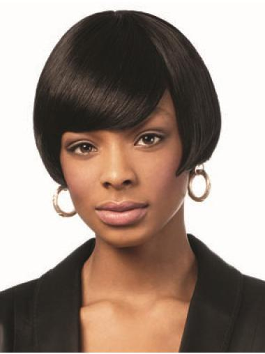 "8"" Straight African American Synthetic Wigs"
