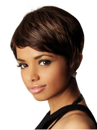 Capless Brown African American Wigs