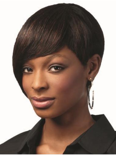 """Straight 8"""" African American Capless Wigs"""