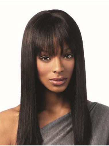 "Capless Straight 16"" African American Natural Wigs"
