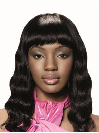Wavy Black Human Hair African American Wigs