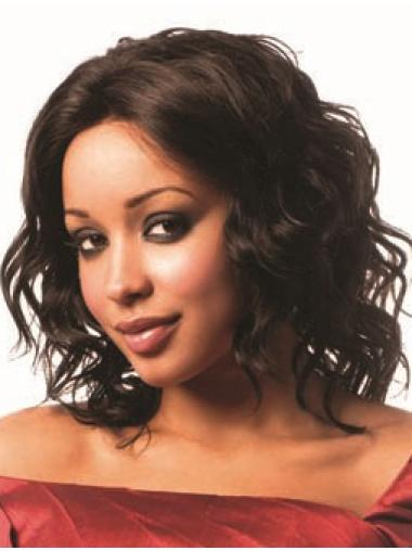 Layered African American Human Hair Lace Front Wigs