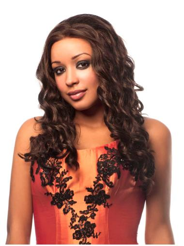 """Wavy 16"""" Front Lace African American Wigs"""