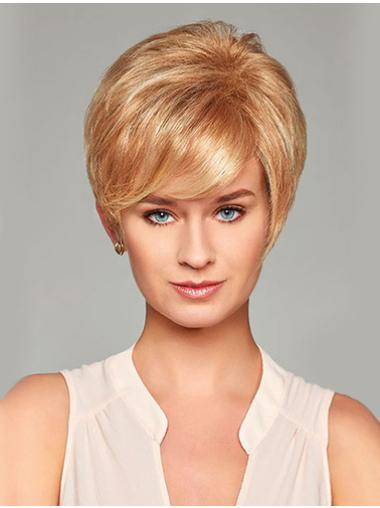 "Layered 8"" Blonde Lace Front Synthetic Wigs"