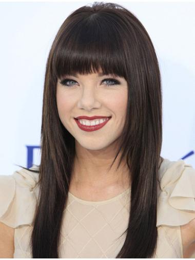 Black Straight Long 100% Hand Tied Wigs