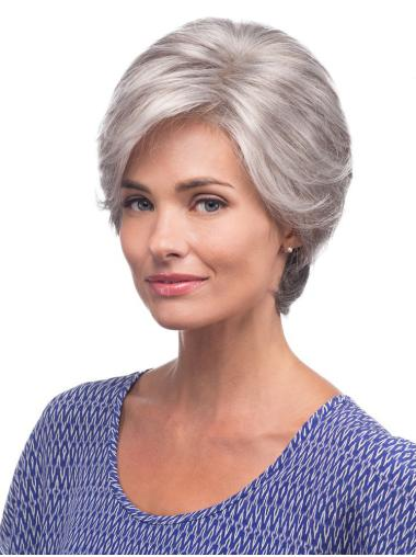 "Synthetic 8"" Lace Front Grey Wigs For Women"