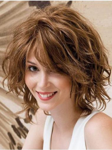 Layered Remy Human Hair Auburn Wavy Hand Knotted Wigs