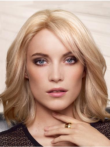 "Capless Blonde Layered 14"" Medium Length Wigs For Women"
