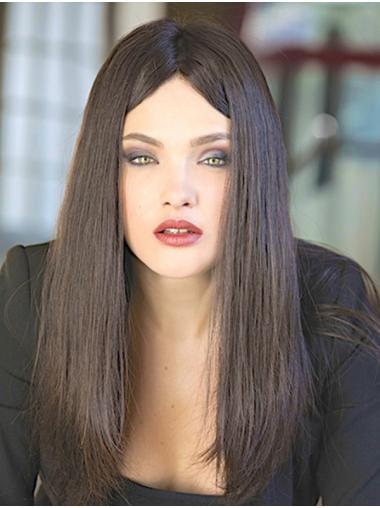 "Monofilament 18"" Straight Long 100% Human Hair Wig"