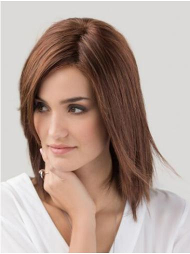 "Monofilament Auburn Without Bangs 12"" Women Wig Medium Length"