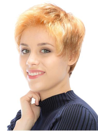 """Incredible Monofilament Synthetic Straight 6"""" Short Wigs"""