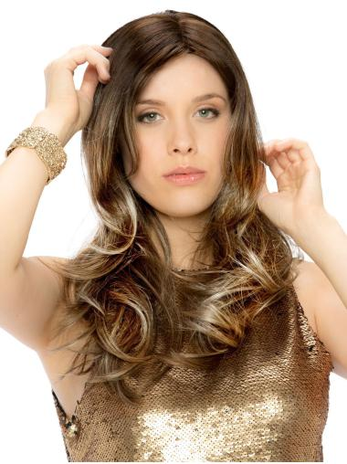 "Synthetic 18"" Wavy Monofilament Beautiful Long Wigs"