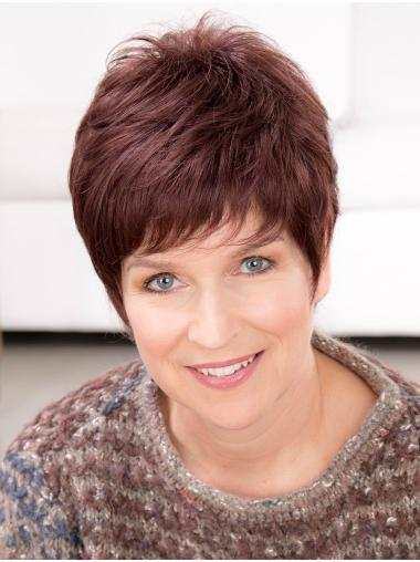 """Comfortable 100% Hand-tied Synthetic Straight 6"""" Short Wigs"""