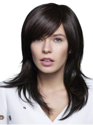 "Synthetic 16"" Straight 100% Hand-tied Exquisite Long Wigs"