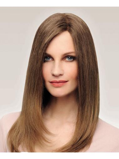 """Remy Human Hair 16"""" Straight 100% Hand-tied Good Long Wigs"""