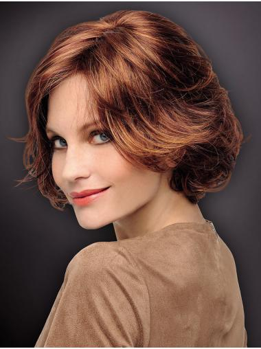 "Suitable 10"" Chin Length Wavy Auburn Bob Wigs"