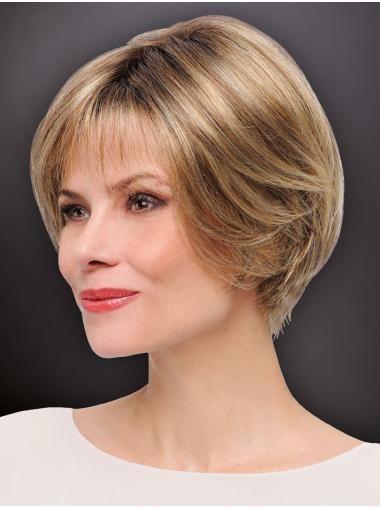 "Fashion 8"" Short Straight Blonde Bob Wigs"