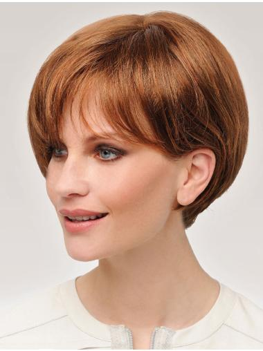 "Popular 8"" Short Straight Auburn Bob Wigs"