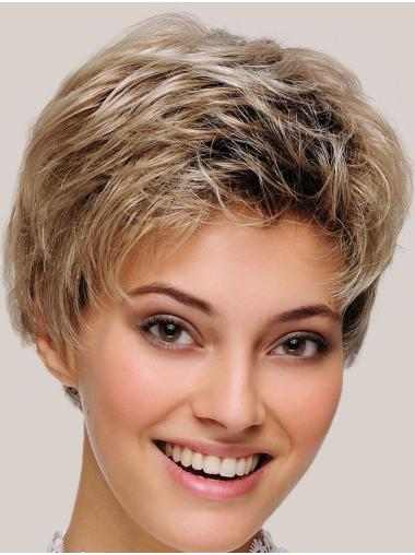 """Cheap Monofilament Synthetic Straight 8"""" Short Wigs"""