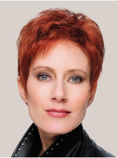"""Fabulous Monofilament Synthetic Straight 8"""" Short Wigs"""