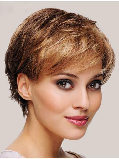 """Best Monofilament Synthetic Straight 6"""" Short Wigs"""