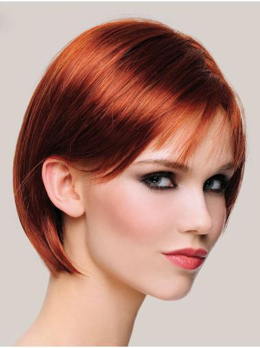 "Hairstyles 10"" Chin Length Straight Copper Bob Wigs"