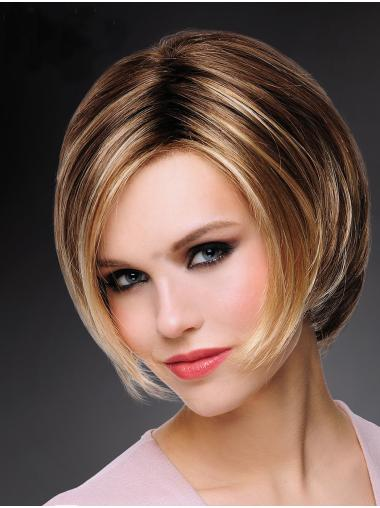 "Exquisite 8"" Short Straight Blonde Bob Wigs"