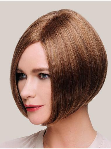 "Ideal 10"" Chin Length Straight Brown Bob Wigs"