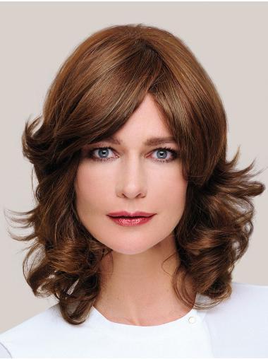 "100% Hand-tied 14"" Good Brown Classic Human Hair Wigs"